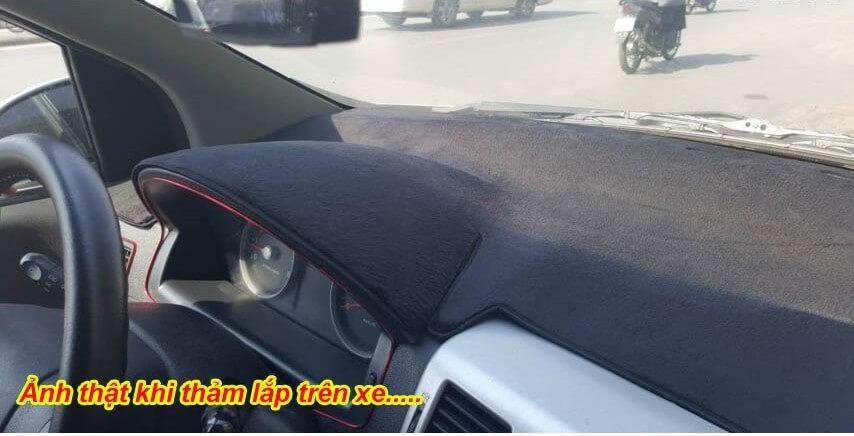 Thảm tablo nhung cho xe Hyundai Accent 2012-2015