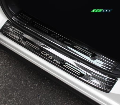 Ốp bậc cửa trong - ngoài titan Mazda Cx5 2