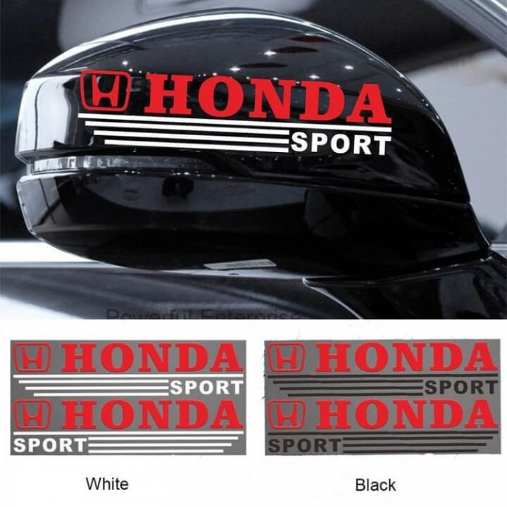 Tem dán gương Honda Sport