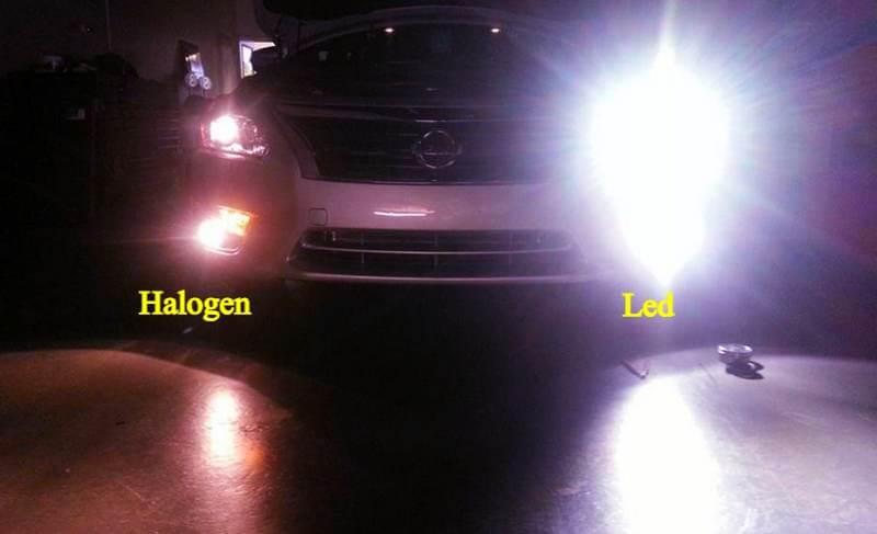 So sáng đèn halogen và led