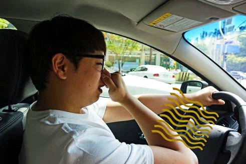mùi hôi trên xe