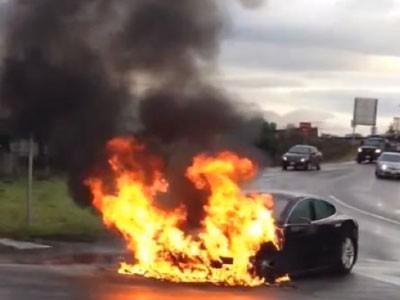 ô tô điện bốc cháy