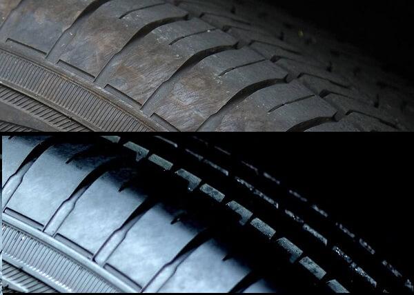 làm bóng lốp xe trước và sau